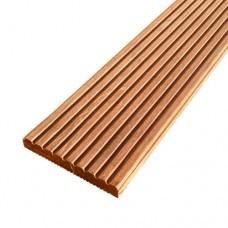 Vlonderplank hardhout 2,1x14,5x245 cm bankirai groef/ribbel