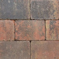 Trommelsteen 20x30x6 cm bruin gv