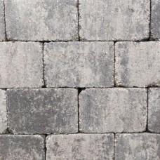 Trommelsteen 21x14x7 cm grijs zwart