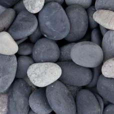 Beach pebbles black 8-16 mm bigbag 1.000 kilo