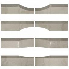 Linia excellence wave 15x15x60cm graniet grijs