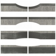 Linia excellence wave 15x15x60cm grijs zwart