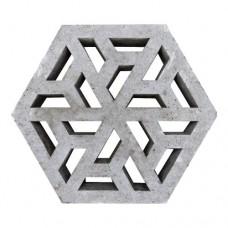 Waterpasserende eco tegel Oud Hollands 37,5x37,5x7 cm grijs
