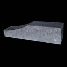 Palissade block wave 60x15x15 cm grijs zwart