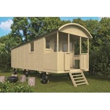 Zigeunerwagen met veranda 240x700+120 cm