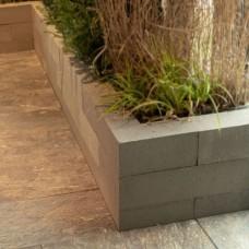 Linia palissade 12x12x60 cm strak grijs