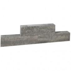 Forto walling 60x10x10 cm grijs zwart