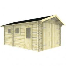 Blokhut 3755 Garage zadeldak Interflex 550x375 cm