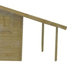Blokhut aanbouw 30 Interflex 163x300 cm