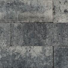 Linea palissade strak 12,5x12,5x45 cm grijs zwart