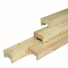 Afdeklat luxe geïmpregneerd vuren 3-planks 180 cm