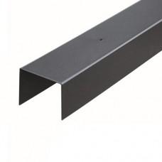 Afdeklat zwart gepoedercoat 3-planks 180 cm