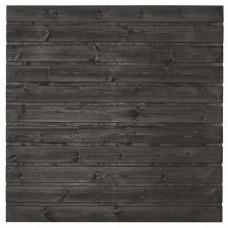 Tuinscherm Fulda zwart gespoten grenen 180x180 cm