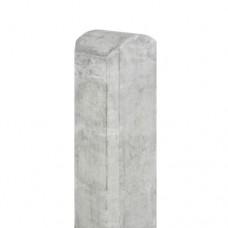 Betonpaal grijs 10x10x280 cm halfronde kop