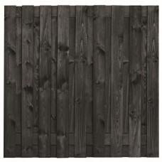 Tuinscherm Koblenz zwart gespoten grenen 180x180 cm