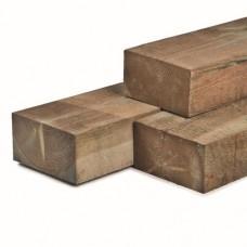 Rustieke biels geïmpregneerd grenen 12x22x220 cm