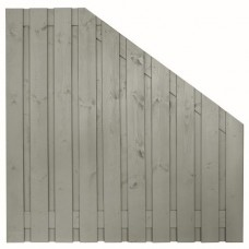 Tuinscherm Brussel zilvergrijs gespoten grenen 180>90x180 cm