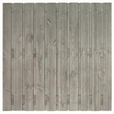 Tuinscherm Ellen zilvergrijs grenen 180x180 cm