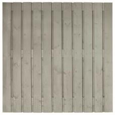 Tuinscherm Gent zilvergrijs gespoten grenen 180x180 cm