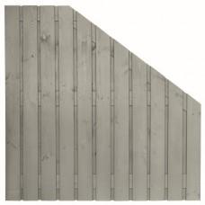 Tuinscherm Gent zilvergrijs gespoten grenen 180>90x180 cm