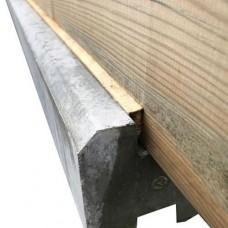 Vullat voor sponning paal geïmpregneerd 0,7 x 210 cm