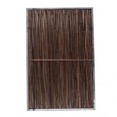 Bamboerolscherm Black in frame 180x120 cm