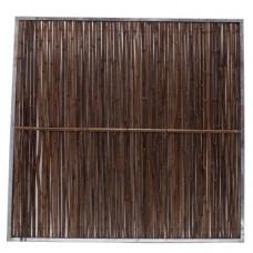 Bamboerolscherm Black in frame 180x180 cm