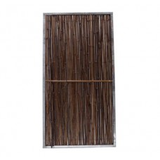 Bamboerolscherm Black in frame 180x90 cm