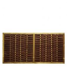 Wilgenscherm 90x180 cm in houten frame 44 mm