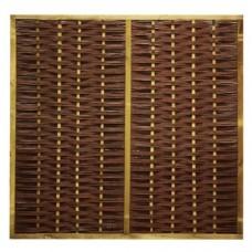 Wilgenscherm 180x180 cm in houten frame 44 mm