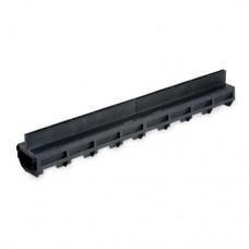 Topgoot 100 cm zwart kunststof verholengoot