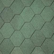 Dakshingles hexagonaal groen