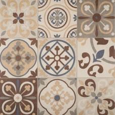 Designo 60x60x4 cm mosaic terra