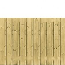 Tuinscherm geïmpregneerd vuren 130x180 cm 21-planks 103266