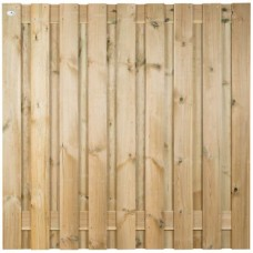 Tuinscherm geïmpregneerd grenen 180x180 cm 19-planks 103433