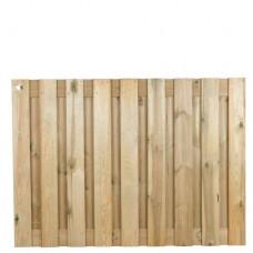 Tuinscherm geïmpregneerd grenen 130x180 cm 19-planks 103434