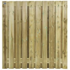 Tuinscherm geïmpregneerd grenen 180x180 cm 21-planks 103436