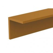 Hoekprofiel composiet bruin 4x4x300 cm 103600