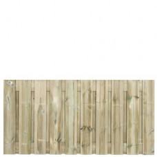 Tuinscherm geïmpregneerd grenen 90x180 cm 21-planks 133072