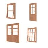 Lariks ramen en deuren (i.p.v. vuren) +€ 144,00