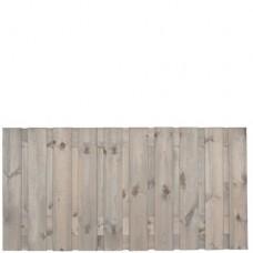 Tuinscherm Brussel zilvergrijs gedompeld grenen 180x90 cm
