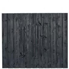 Tuinscherm Dresden zwart gespoten grenen 180x150 cm