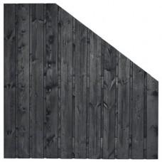 Tuinscherm Dresden zwart gespoten grenen 180>90x180 cm