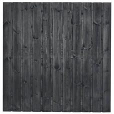 Tuinscherm Dresden zwart gespoten grenen 180x180 cm