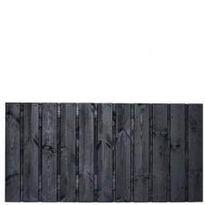 Tuinscherm Dresden zwart gespoten grenen 180x90 cm