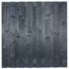 Tuinscherm Hamburg zwart gespoten grenen 180x180 cm