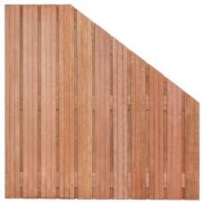 Tuinscherm Hoorn hardhout 180>90x180 cm