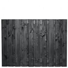 Tuinscherm Stuttgart zwart gespoten grenen 180x130 cm