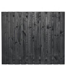 Tuinscherm Stuttgart zwart gespoten grenen 180x150 cm