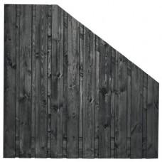 Tuinscherm Stuttgart zwart gespoten grenen 180>90x180 cm